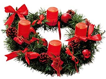star advent wreath with 4 wax led candle red gold. Black Bedroom Furniture Sets. Home Design Ideas