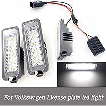 Para Volkswagen Golf 456placa de licencia Luces DC12V impermeable coche número de matrícula LED lamp (2Packs)