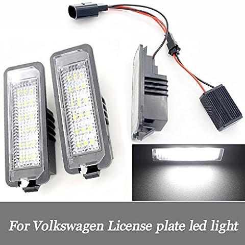 Für Volkswagen Golf 456Kennzeichenbeleuchtung DC12V Wasserdicht Auto LED Kennzeichenbeleuchtung Lampe