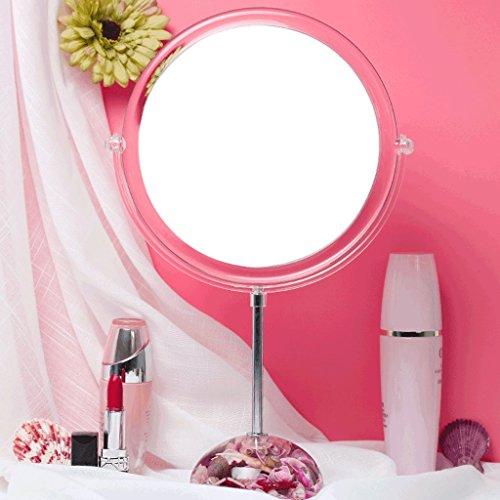 Miroir Maquillage Miroir Bureau Dresser Miroir Princesse Miroir Dortoir Bureau Étudiant Double-face Fille Miroir Reine Maison Mariage 8 Pouces Xuan - worth having (Couleur : D)
