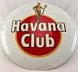 Neues Emaille Schild Havana Club 50cm 2040g, Classic Werbeschild Reklameschild 50er Jahre Life Style Retro Fifties