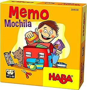 Haba- Juego de Mesa, Memo Mochila, Multicolor (Habermass H304530)