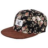 Blackskies Snapback Cap mit Stick oder Floralen Muster Unisex Baseball Mütze, Black Beauty Vol. III, Einheitsgröße