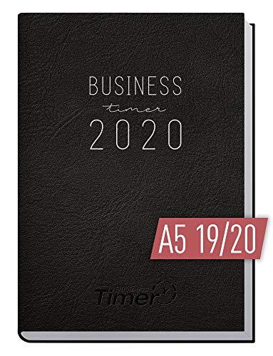 Chäff Business-Timer 2019/2020 A5 schwarz | Wochenplaner 18 Monate: Juli 2019 - Dezember 2020 | Wochenkalender, Weekview Organizer, Terminkalender für perfektes Zeitmanagement im Beruf und Alltag