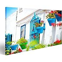 Cuadro Cuadros Torremolinos Costa del Sol, Andalucia Típico Pueblo Blanco Impresión sobre lienzo - Formato Grande - Cuadros modernos HVT