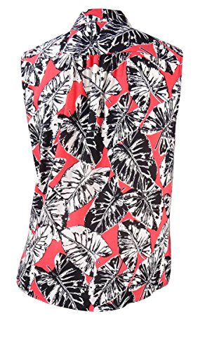 Nine West Womens Tie Neck Printed Blouse Punch Multi