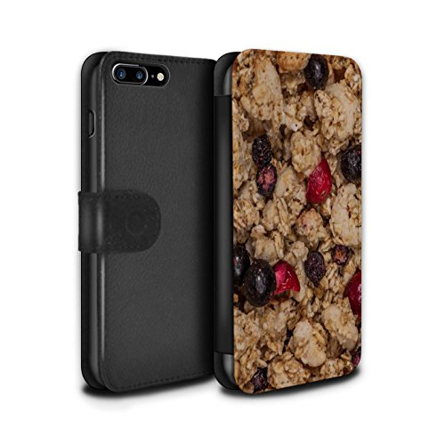 STUFF4 PU-Leder Hülle/Case/Tasche/Cover für Apple iPhone 7 Plus / Pack 18pcs Muster / Getreide Kollektion Müsli/Beeren