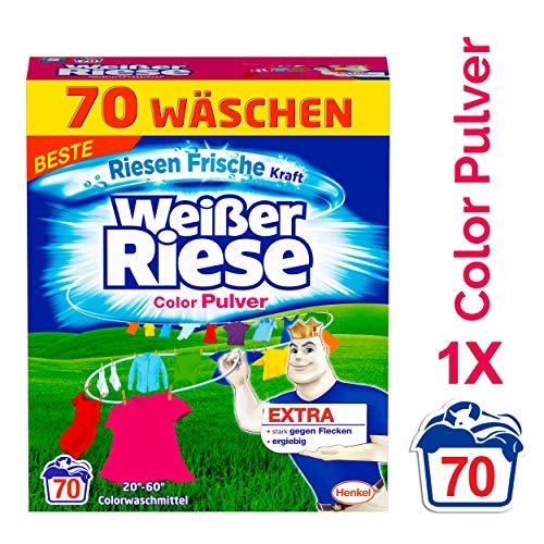 Weißer Riese Color Pulver, Colorwaschmittel, 1er Pack (1 x 70 Waschladungen)