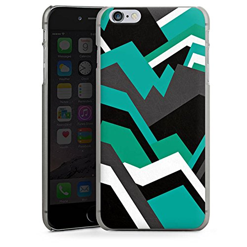 Apple iPhone X Silikon Hülle Case Schutzhülle Steine Berge Muster Hard Case anthrazit-klar
