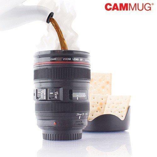 Bitblin tazza multifunzione, tema fotocamera, colore: nero, 8x 8x 12,5cm