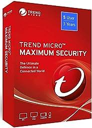 Trend Micro Maximum Security: International Version (Windows/Mac/Android/iOS) - 5 User, 3 Year (License Key: e