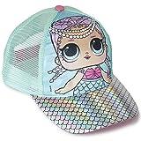 L.O.L. Surprise ! Mädchen Premium Baseball Baseballmütze | Kinder Sonnenhüte für den Sommer in Schwarz Rosa Blau Sparkly Glitter Einhorn Holographische Krempe (Türkis holographisch)