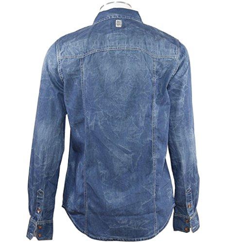 PETROL INDUSTRIES Herren Freizeit-Hemd Blau