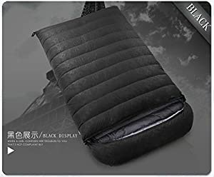 ZHUDJ Down Sleeping Bag, Outdoor Fishing Room, Adult Light Double Thickening Sleeping Bag,Black,800 Grams from ZHUDJ