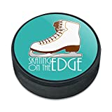 Graphics and More Schlittschuhe Eiskunstlauf Living on the Edge Eishockey Puck