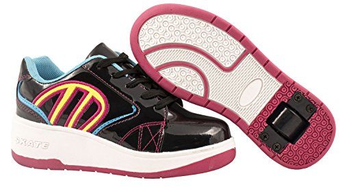 Elara, Sneaker bambini Schwarz-Fushia Skater