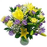 Clare Florist Wonderful Freesia and Lily Bouquet - Fresh Flower Bouquet Full of Gorgeous Blooms