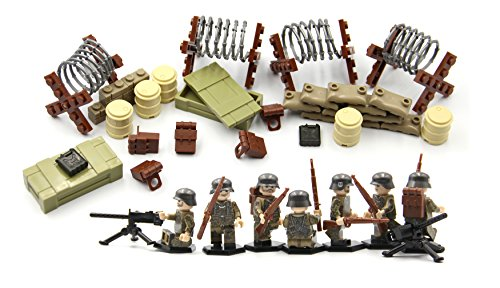 MAGMA BRICK minifigurines aus der Waffen-SS Force der Deutschen Soldaten in World War II mit Tactical Equipment