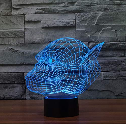 HPBN8 3D Gorilla Lampe USB Power 7 Farben Amazing Optical Illusion 3D wachsen LED Lampe Formen Kinder Schlafzimmer Nacht Licht【7 bis 15 Tage in Deutschland angekommen】 -
