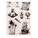 Cold Toy Anker Segelboot Klar Gummidichtung Stempel DIY Album Scrapbooking Foto Karte Decor
