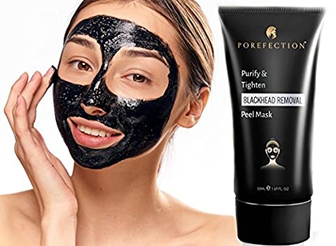 Blackhead Face Mask Peel Off Remover – Black peel-off purifying charcoal removal kit tool for full removing, cleaning, deep clearing peeling blackheads. Use with your toner, snail moisturiser & cream