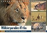 Wildtierparadies Afrika - Eine Foto-Reise durch die Savannen (Tischkalender 2019 DIN A5 quer): Wildtiere Afrikas in ihrem natürlichen Lebensraum (Monatskalender, 14 Seiten) (CALVENDO Tiere)