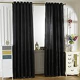 Ventana Kasit pantalla Cortinas de puerta del sitio forros opacos para cortinas cortinas - Negro