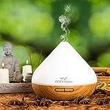 Aroma Diffuser 400ml Luftbefeuchter Ultraschall - Nachtlicht | Leise | Raumbefeuchter für Schlafzimmer, Kinderzimmer, Wohnzimmer, Büro | Duftlampe Aromatherapie | 8 Farben LEDs | CozyHome