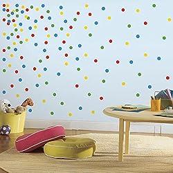 """RoomMates """"confetti diseño de lunares"""" adhesivo decorativo para pared"""