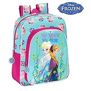 51owVTEcRRL. SS300  - Disney Frozen - Mochila Junior Adaptable, 32 x 38 cm (SAFTA 611515640)