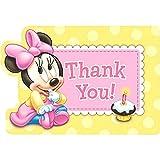 3Minnie Mouse 1st de cumpleaños postal gracias notas - Best Reviews Guide