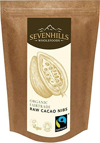 Sevenhills Wholefoods Puntas de Cacao Crudo Orgánico (Nibs) De Comercio Justo 1kg