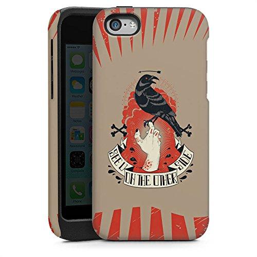 Apple iPhone 5 Housse étui coque protection Corbeau Corbeau Gothique Cas Tough brillant