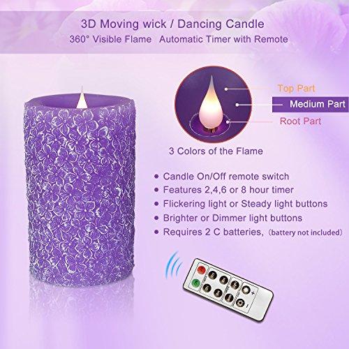 Led Flameless Kerze Lichter, Klee Alfalfa Grün Klee Grün Glas geformt, mit Fernbedienung Funktion,...