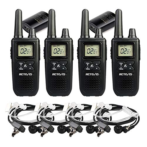Retevis Retevis RT41 Two Way Radios 22 Channels 121 Privacy Codes FRS NOAA Walkie Talkies with Earpieces(4 Pack)