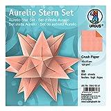 Ursus 35605541 - Faltblätter Aurelio Stern, Crush Paper, 15 x 15 cm, Orange