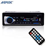 AGPTEK Dash Car Bluetooth Audio Stereo ricevitore con Microhpne, Aux 12V a Radio FM adattatore auto MP3 Player supporto Aux in TF Card USB Car AUX Ricevitore + telecomando