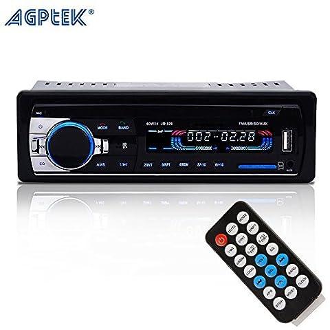 AGPtek Récepteur Audio Bluetooth et Stéréo de Voiture- avec Microphone,