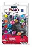 Staedtler 8023 01 - Fimo soft Materialpackung (12 Halbblöcke 25 g, farblich sortiert)