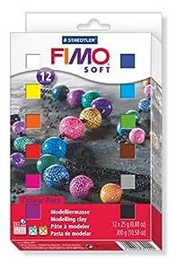 Staedtler 8023 01 Modelliermasse (Fimo Soft 12 Halbblöcke)