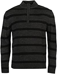 Pierre Cardin ¼ Zip Pull rayé pour homme Gris anthracite Pull Top