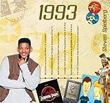 1993 Geburtstag Geschenken - 1993 Chart Hits CD und 1993 Geburtstagskarte