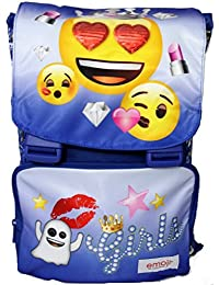 19f0d00b77 Emoji ZAINO Estensibile Scuola EMOTION - Con Pattina reversibile - blu
