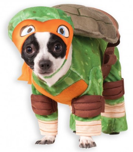 (Rubie 's Offizielles Michelangelo Teenage Mutant Ninja Turtle Pet Hund Kostüm)