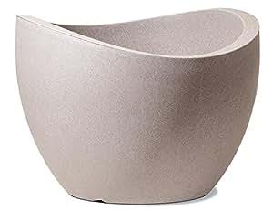 scheurich wave globe pflanzgef aus kunststoff taupe granit 60 cm durchmesser 44 5 cm hoch. Black Bedroom Furniture Sets. Home Design Ideas