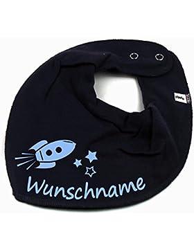 HALSTUCH Rakete mit Namen oder Text personalisiert für Baby oder Kind verschiedene Ausführungen