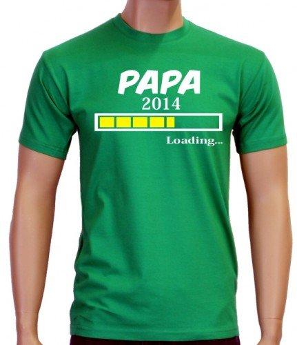 Coole-Fun-T-Shirts - T-Shirt Papa 2014, T-shirt da uomo, verde(green),