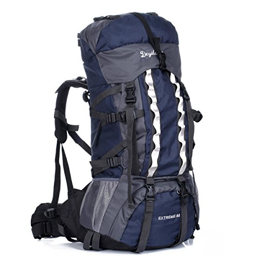 Ad Alta Capacità All'aperto Alpinismo Trekking Viaggi Borse A Tracolla DarkBlue