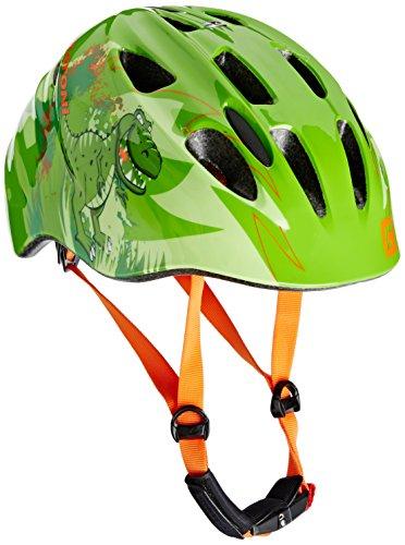 Cratoni Jungen Fahrradhelm Akino Dino Green Glossy, M