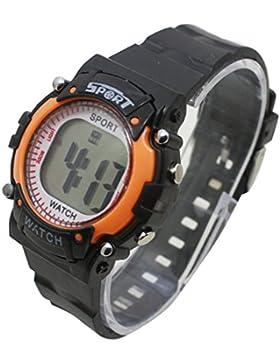 Kinder Kinder Uhren Digital Colorful Luminous Big LCD-Alarm Sport Armbanduhr Boy Girl WS @ ktw59s